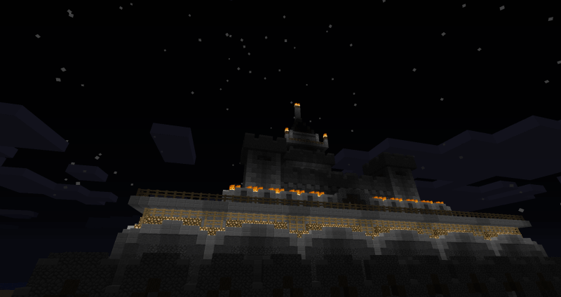 Castle on Minecrafrt Beta Server